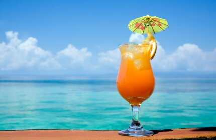 Cocktail by the beach